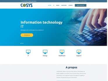 Lancement du site Web de Cosys
